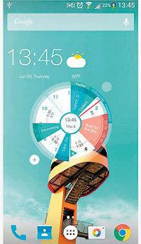 Aplicaţia zilei: S.Graph: Calendar clock widget