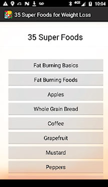 Aplicaţia zilei: 35 Super Foods for Weight Loss