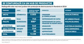 Producţia de electrocasnice a depăşit anul trecut pentru prima dată pragul de 1 mld. euro. Noile investiţii pun România pe hartă şi o transformă în hub european