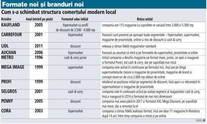 Grafic: Cum s-a schimbat structura comerţului modern local