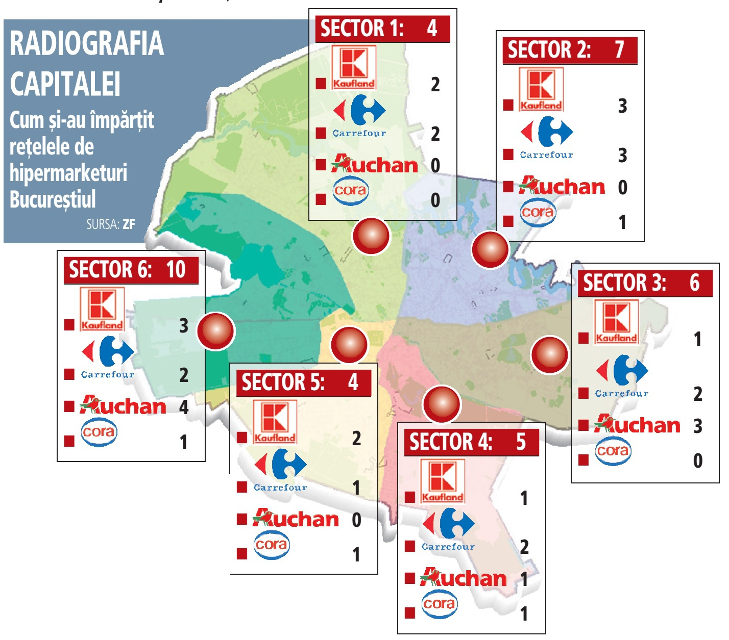Harta Hipermarketurilor Din Capitală Unde Sunt Cele 36 De