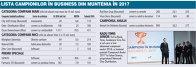 Grafic: Lista campionilor în business din Muntenia în 2017