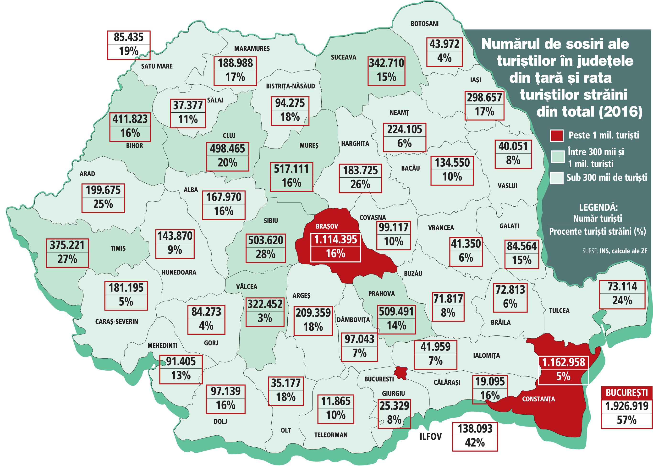 Harta Turistică A Romaniei Unu Din Doi Turisti Care Au Venit Anul