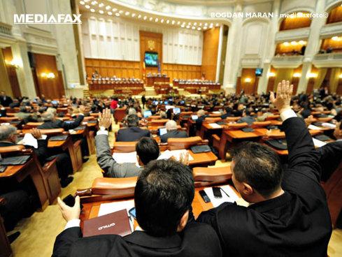 Şedinţa Parlamentului, întreruptă pentru câteva clipe din cauza unei borsete cu potenţial suspect