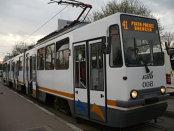 Circulaţia pe linia tramvaiului 41 din Capitală, blocată în urma unui accident; o femeie, rănită