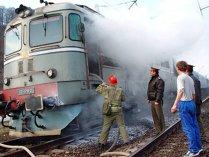 Incendiu la un tren cu 50 de pasageri, care circula între Ploieşti şi Braşov. Nu au fost victime