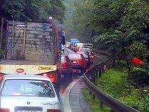 Trafic rutier intens pe Valea Prahovei