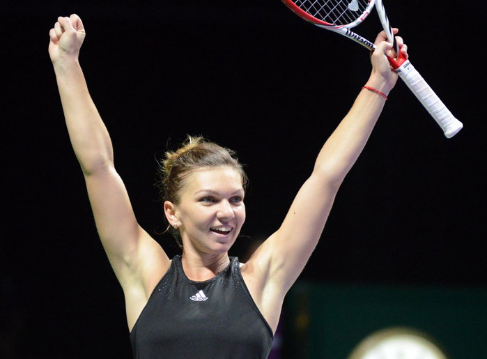 Simona Halep, prima jucătoare care s-a calificat �n semifinalele Turneului Campioanelor