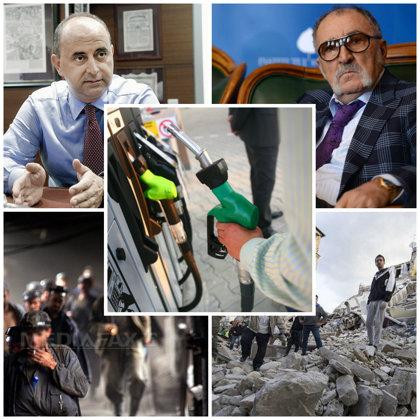 Cele cinci evenimente care au marcat săptămâna: Benzina trece de 5 lei, Ţiriac dă o nouă lovitură, Italia declară stare de urgenţă după cel mai mare dezastru din ultimii ani, CE Oltenia dă afară mii de oameni