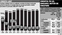 Creditarea privată a început anul cu o creştere timidă, de sub 1%. Doar împrumuturile în lei pentru populaţie menţin creditarea pe linia de plutire