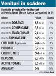 Grafic: Evoluţia principalilor indicatori ai Patria Bank (fosta Banca Carpatica) în T1