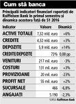 Grafic: Principalii indicatori financiari raportaţi de Raiffeisen Bank în primul semestru şi dinamica acestora faţă de S1 2016