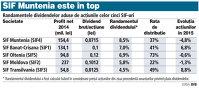 SIF-urile şi-au anunţat dividendele: în total 262 mil. lei pentru acţionari
