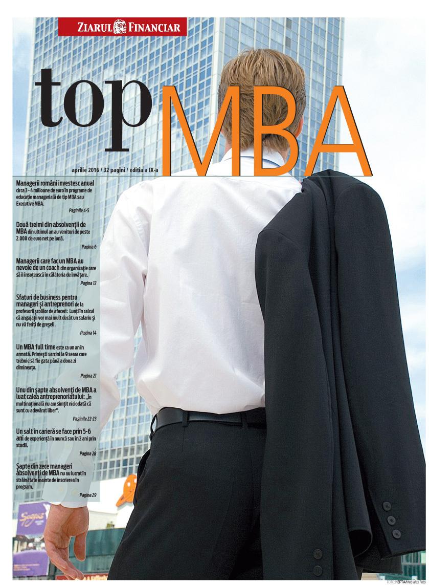 ZF Top MBA 2016. Şapte din zece manageri absolvenţi de MBA nu au lucrat în străinătate înainte de înscrierea în program