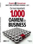 """ZF lansează astăzi a zecea ediţie a anuarului """"Who's Who in Business. Cei mai importanţi 1.000 de oameni din business"""""""
