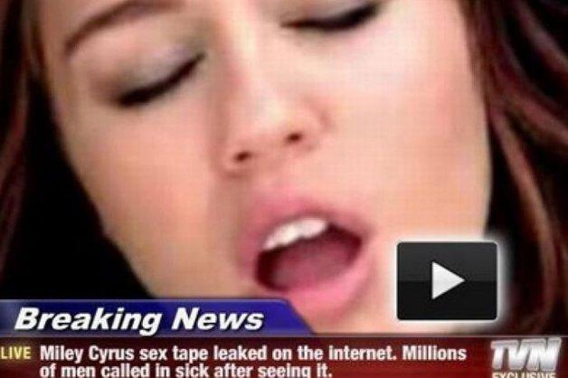 Sub Forma Unei Fotografii Care Anun Un Film Porno Cu Miley Cyrus