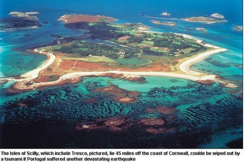 Un tsunami creat de un cutremur în Portugalia ar putea şterge Marea Britanie de pe hartă