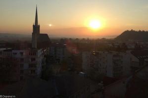 Un locuitor din Dej a fotografiat sâmbătă dimineaţă UN FENOMEN EXTREM DE RAR. Care este explicaţia