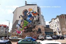 Acum câteva zile, acest perete arăta aşa. Ce s-a întâmplat după ce biserica şi  credincioşii ortodocşi au protestat