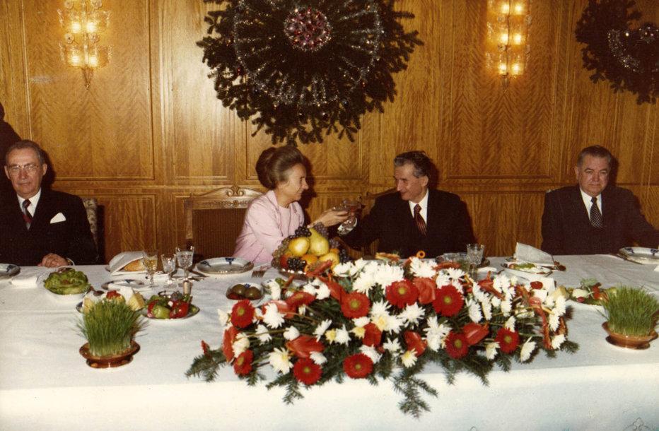 Ce avea Ceauşescu pe masă în noaptea de Revelion