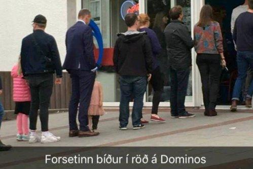 Preşedintele care are timp să stea la cozi: imagine virală cu şeful statului islandez