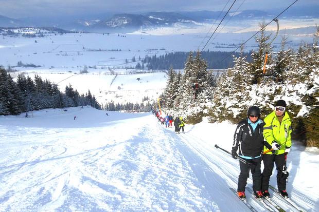 O nouă pârtie de schi a fost deschisă în România