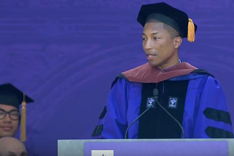 Rapperul Pharrell Williams, discurs la NYU: