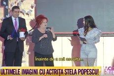 """VIDEO. Imaginile cu Stela Popescu care au indignat-o pe Oana Pellea. """"Nimeni din public nu a chemat salvarea. Nu a dus-o nimeni la spital"""""""