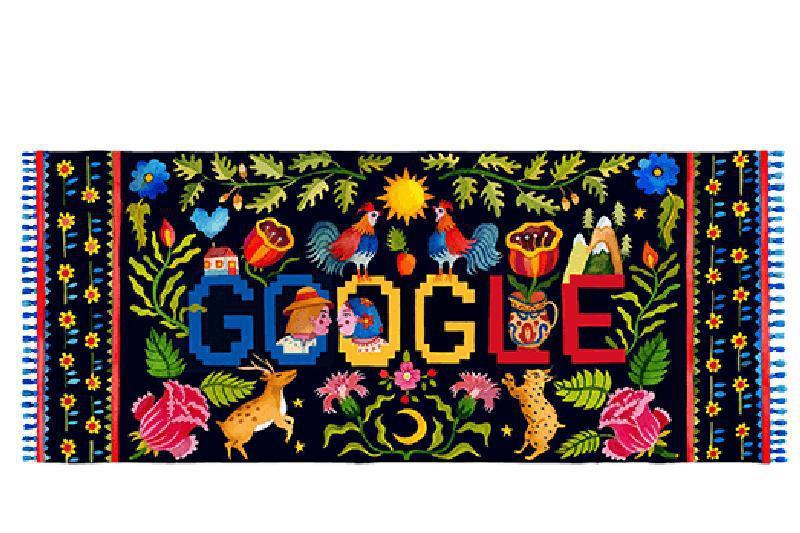 DOODLE GOOGLE de Ziua României. Cum aniversează Google 1 decembrie
