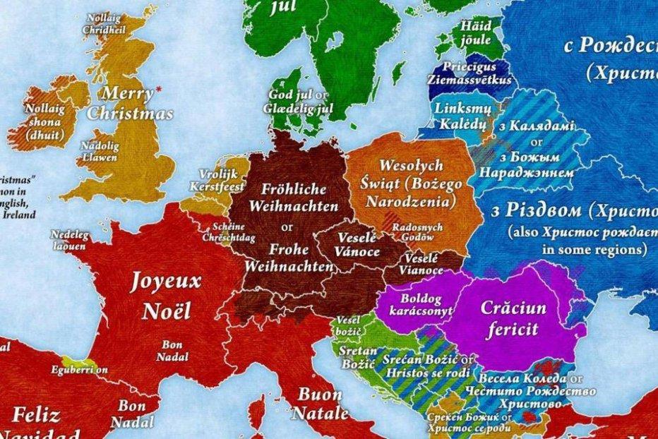 """Cum se spune """"Crăciun Fericit!"""" în toate limbile vorbite în Europa"""