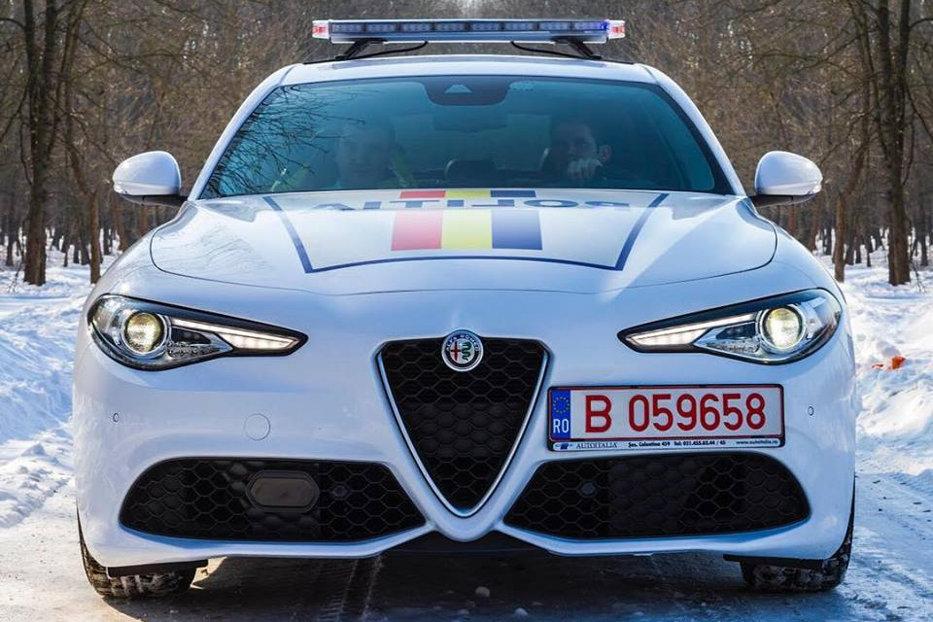 """Un Alfa Romeo Giulia al Poliţiei Române, scos la vânzare: """"O decolantăm sau o cumpăraţi aşa?"""". GALERIE FOTO"""