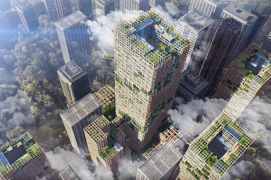 O companie niponă vrea să construiască un zgârie-nori din lemn, care să devină cea mai înaltă clădire din Japonia