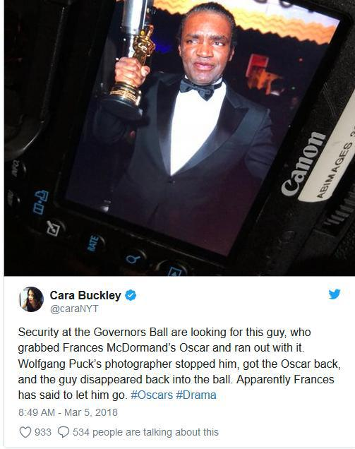 Ce a declarat avocatul bărbatului care a vrut să fure un Oscar după gala din acest an
