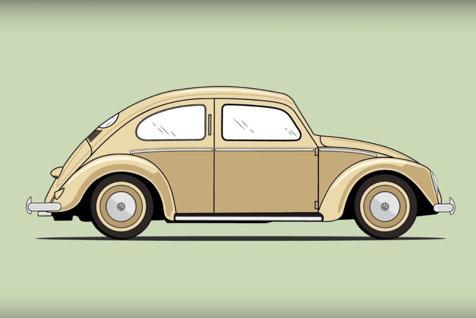 BROSCUŢA iese la pensie. Volkswagen va renunţa la producţia Beetle. MAŞINA POPORULUI închipuită de Adolf Hitler