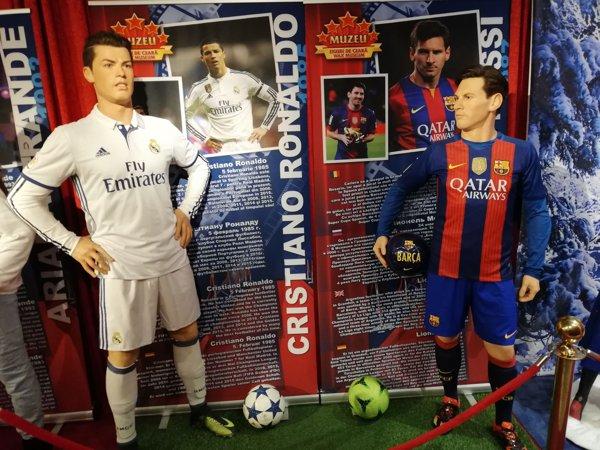 Ronaldo și Messi din ceară