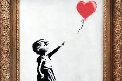 Banksy loveşte din nou. Un tablou al artistului S-A AUTODISTRUS după ce a fost cumpărat cu UN MILION DE LIRE
