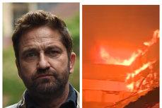 Vremuri DUREROASE pentru California. Casa lui GERARD BUTLER distrusă de incendiile de vegetaţie