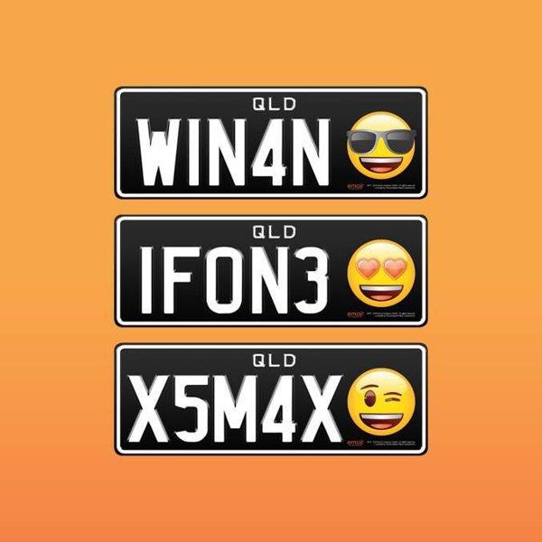 Primele numere de înmatriculare cu emoji