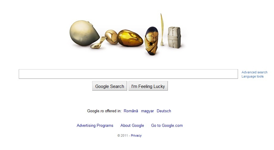 Google celebrează 135 de ani de la naşterea lui Constantin Brâncuşi