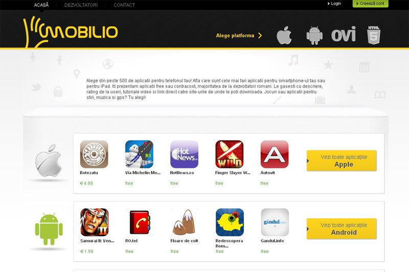 Mediafax Group lansează Mobilio.ro – primul site românesc de aplicaţii pentru smartphone şi tablete