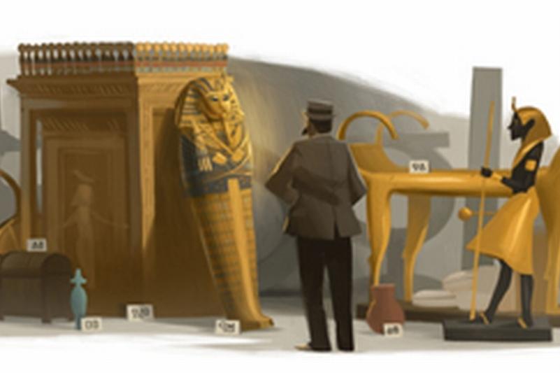 HOWARD CARTER, omagiat de GOOGLE. Arheologul britanic a descoperit mormântul lui Tutankamon, în 1922