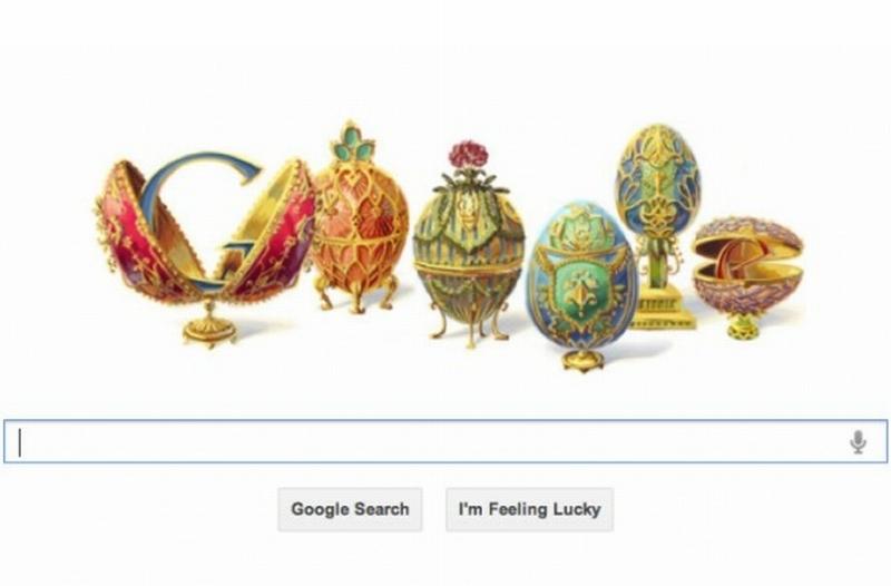 PETER CARL FABERGÉ, faimos pentru ouăle Fabergé, omagiat de GOOGLE printr-un logo special. VIDEO