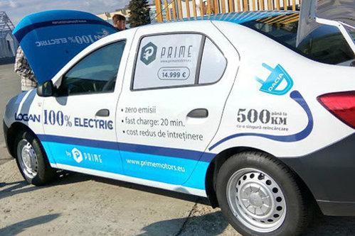 O companie românească propune Loganul electric, cu care poţi face 500 de km cu doar 30 de lei. Cât costă maşina