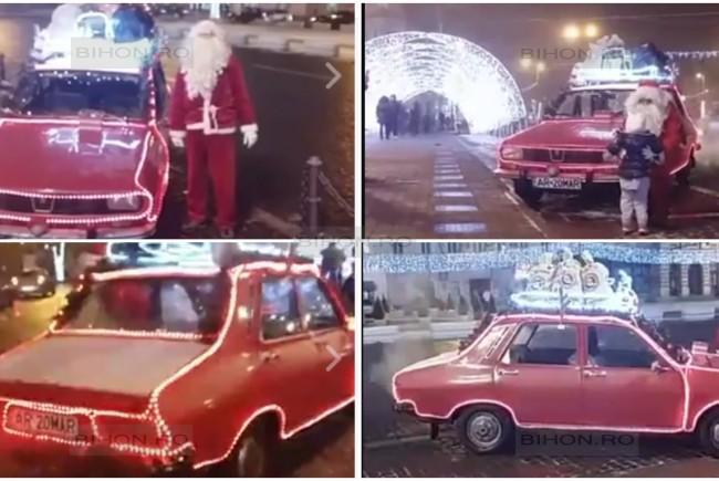 ''Moş Crăciun'', amendat cu 750 de lei de poliţiştii din Arad, pentru că luminiţele de pe ''sanie'' nu erau omologate