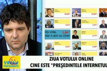 """ZIUA VOTULUI ONLINE. Internetul """"şi-a ales preşedintele"""". Dezbatere Gândul LIVE"""