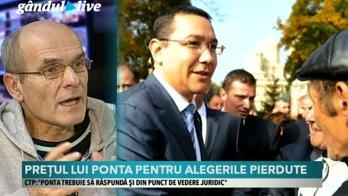 Cristian Tudor Popescu, la Gândul Live, despre afirmaţiile lui Victor Ponta din timpul dezbaterii din Parlament pe tema VOTULUI DIN DIASPORA