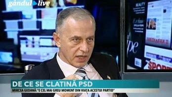 """Mircea Geoană, la GÂNDUL LIVE: """"Ponta trebuia să-şi dea demisia de la PSD în prima secundă. Va pierde şi guvernarea şi va avea timp să mănânce popcorn ca aliment de bază"""""""