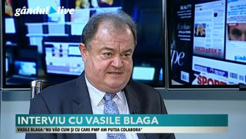 """Vasile Blaga, la GÂNDUL LIVE: """"Cel mai corect ar fi să ajungem la putere prin alegeri anticipate. Vom depune moţiune de cenzură în februarie"""""""