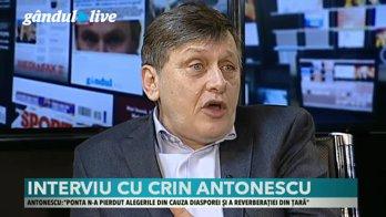 """Crin Antonescu, la Gândul Live. """"Ştiu mai multe despre Iohannis, este un om care vorbeşte puţin şi gândeşte cât vorbeşte"""""""