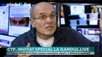 Cristian Tudor Popescu, în dialog cu Claudiu Pândaru la Gândul LIVE, de la ora 20:00